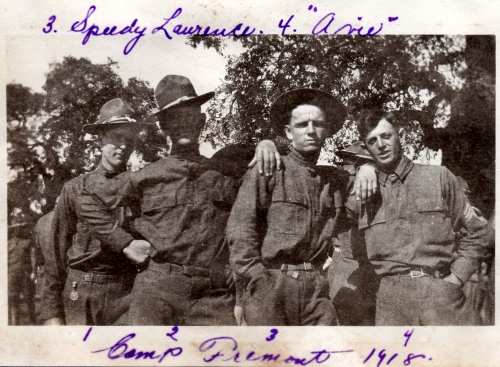 Soldiers, Camp Fremont, CA, 1918. Camp Fremont was in Menlo Park, just south of Redwood City.