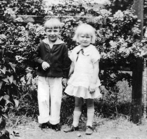 Boy and his sister, early 1920s