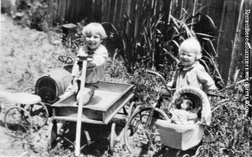 Children and toys, early 1920s