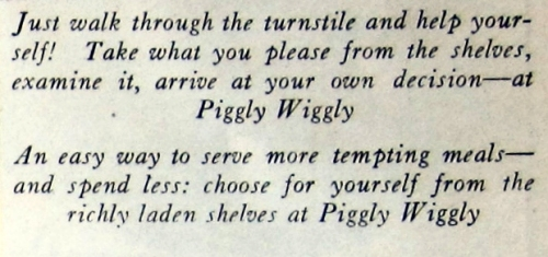 1929 jan p 53  text choose RS piggly wiggly market btm