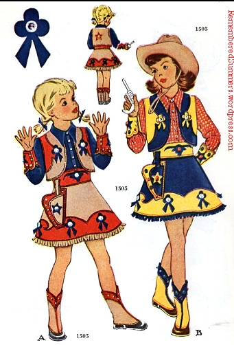 """Rodeo Queen"" costumes ; McCall pattern 1505, May 1950 catalog."