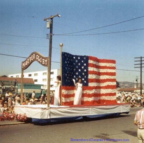 Fourth of July Parade float, Redwood City, around 1960.